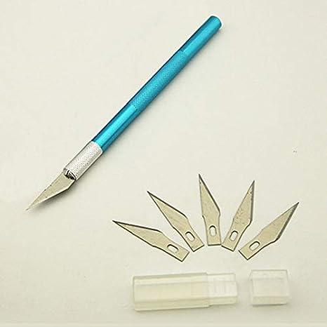 Xennos - Cuchillo de 6 cuchillas para cortar madera: Amazon ...