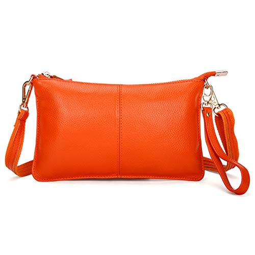 Orange Leather Handbag - 9