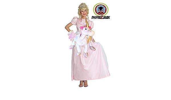 Disfraz Despedidas de Soltera de Princesa Rosa sobre Unicornio ...