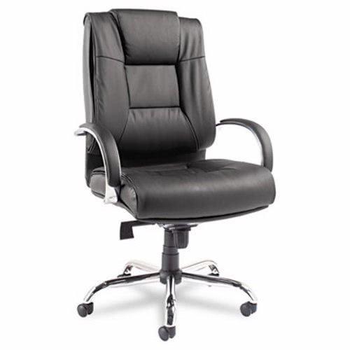 - Alera ALERV44LS10C Ravino Big & Tall Series High-Back Swivel/Tilt Leather Chair, Black