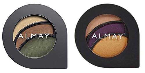 Almay Cosmetics Intense I-Color Party Brights (140 Greens) and Evening Smoky (160 Greens) Eyeshadow Bundle For Green Eyes, All Day Wear Powder Shadow, Pure, Hypoallergenic, 0.2 oz each]()