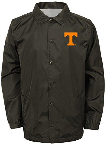 OuterStuff NCAA Tennessee Volunteers Adult Men Bravo Coaches Jacket, Large, Pewter - Jacket Volunteers Tennessee