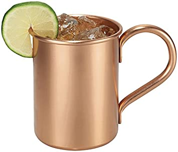 Heavy Gauge Melange Set Of 2 Copper Classic Mug For Moscow Mules 100 Pure Copper No Lining Includes Free Recipe Book 16 Oz Home Glassware Drinkware