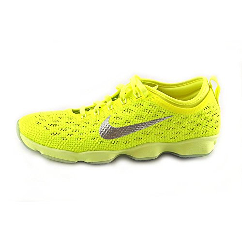 Nike - Zapatillas de deporte Zoom Fit Agility 700 Volt/Ivory-Hyper Grape/Liquid Lime