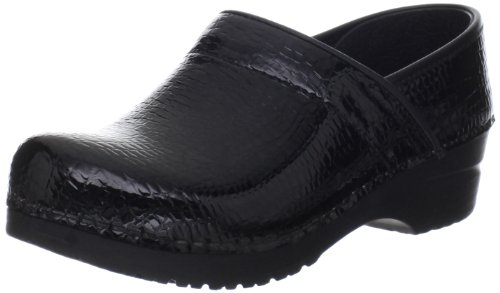Sanita Women's Original Professional Croco Closed Clog,Black,41 EU/10.5-11 M US