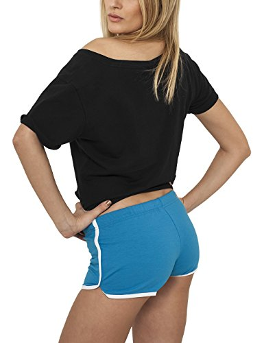 Ladies Urban Shorts Blu French Classics Donna Terry tur wht Hotpants 5xXXrU7q