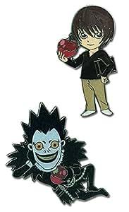 Death Note: Light & Ryuk Anime Pins (Set of 2)