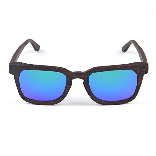 sol Polarizadas madera gafas Estilo LUI bloqueo Unisex de UV Azul SUI retro de qnH0XfXWz