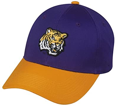 LSU Tigers ADULT Official Licensed College Velcro Adjustable Velcro Fit Cap (Hat Size: Adult) from OC Sports - Outdoor Cap Co