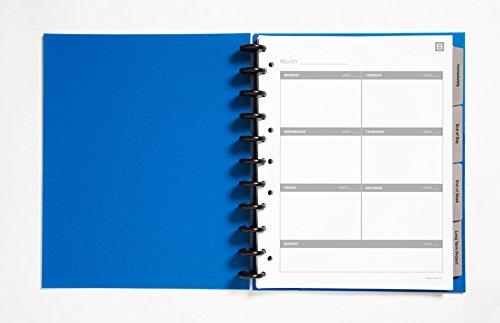 Boundless Discbound Notebooks - Task Organizer, Poly Covers, Letter Size, Blue (B-TASKL-BL)