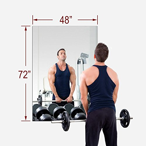 TroySys 48''x72'' MiraSafe Single Gym Mirror Kit by TroySys