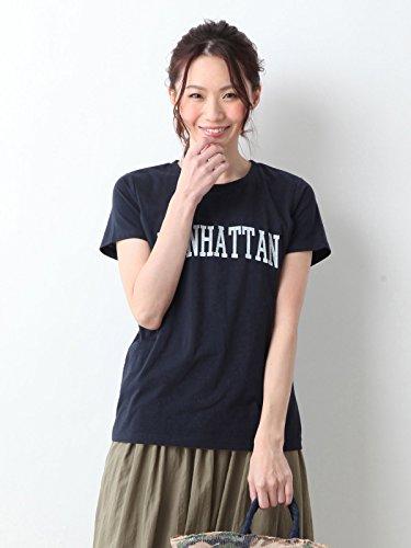 ANGELIEBE エンジェリーベ 産後 授乳服 ロゴ Tシャツ プリント2タイプ フリー MANHATTAN ネイビー 30103700