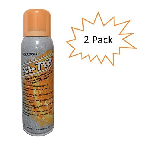 NI-712 Odor Eliminator, Orange Continuous Spray, 2 Cans by NI-712
