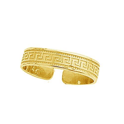 Greek Key Toe Ring - 6
