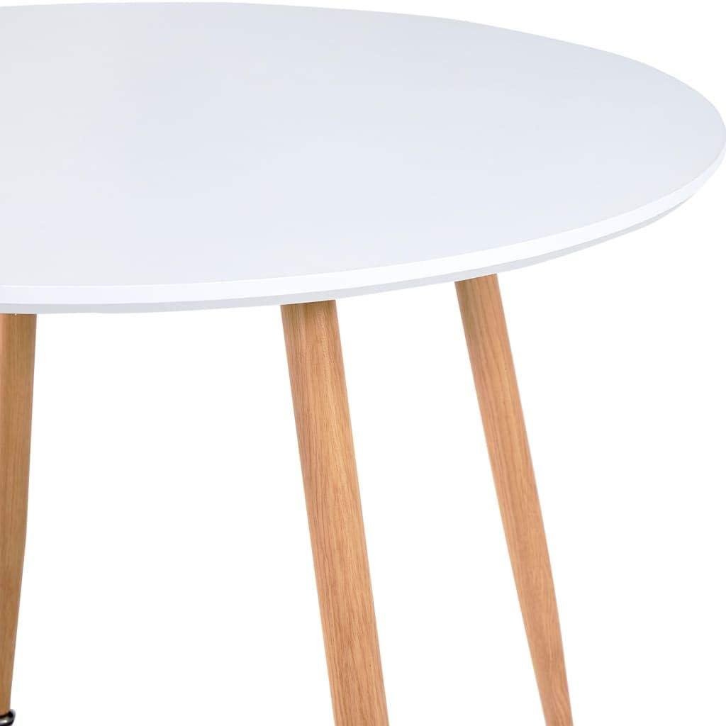 Festnight Table Cuisine Ronde Table de Salle /à Manger Blanc et ch/êne 90x73,5 cm MDF