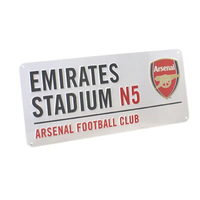 Arsenal FC - Authentic EPL Metal Street Sign (Arsenal Flag)