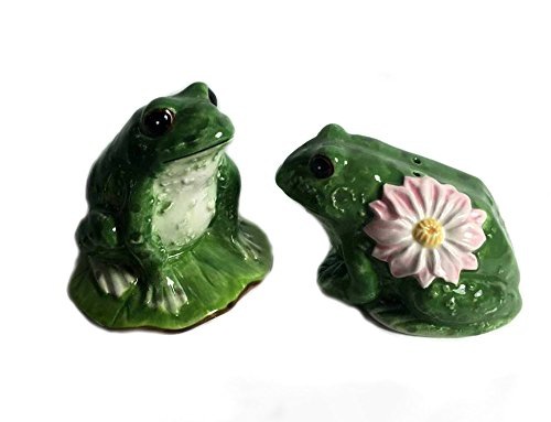 Used, Sadek J Willfred Frog Couple on Lily Pad Salt & Pepper for sale  Delivered anywhere in USA