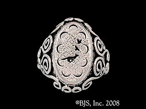 The Wheel of Time Robert Jordan Mat Cauthon's Small Signet Ring in Sterling Silver by Badali