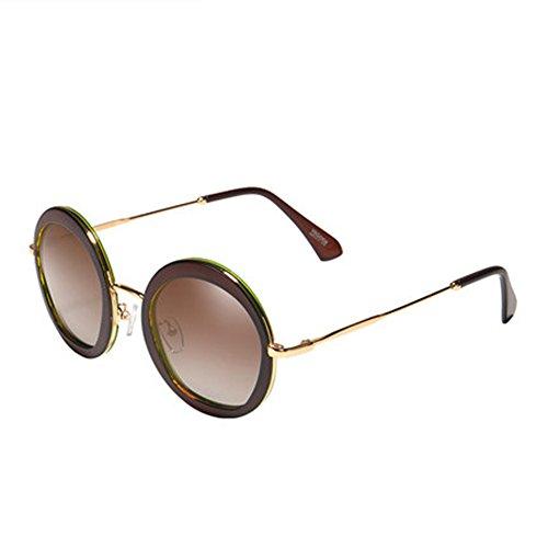 rond soleil cadre pilote lunettes couleur soleil lunettes de C soleil lunettes de lunettes de Lady ronde pilote femme zBRS80qw