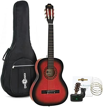 Paquete de Guitarra Espanola de 3/4 de Gear4music Redburst: Amazon ...