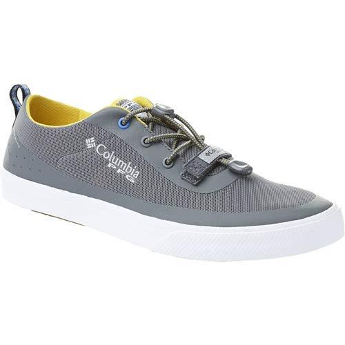 (Columbia PFG Men's Dorado CVO PFG Boat Shoe, Ti Grey Steel/Electron Yellow, 11.5 Regular US)