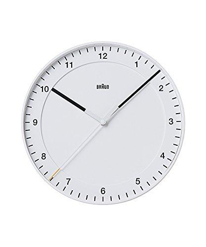 BRAUN ブラウン BNC017WHWH BNC017BKBK 壁掛け時計 (ホワイト) [並行輸入品] B0777ZJJRW ホワイト ホワイト