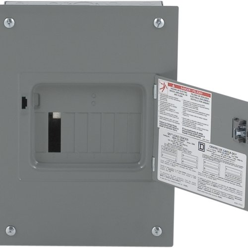 Square D by Schneider Electric QO612L100DF QO 100-Amp 6-Space 12-Circuit Indoor Flush Mount Main Lugs Load Center with Cover and Door by Square D by Schneider Electric (Image #1)