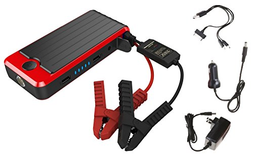 PowerAll PBJS16000R Rosso Red/Black Portable Power Bank and Lithium Jump Starter