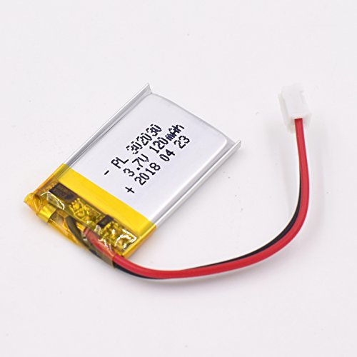 3.7V 120mAh 551521 Lipo Battery Rechargeable Lithium Polymer ion Battery Pack with JST Connector