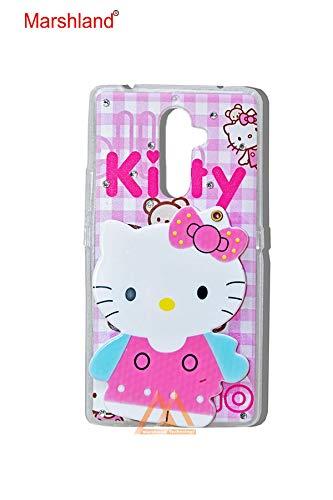 hot sale online bfa15 2ce89 Marshland® Designer Back Cover for Girls 3D Hello Kitty Cartoon Mirror View  Designer Printed Soft Back Case for Lenovo K8 Note