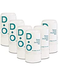 D-O 100% Natural, Crystal Deodorant Stick, 4.25 Oz, No Aluminum Chlorohydrate, Parabens, Propyls, or Other Chemicals (6 Pack)