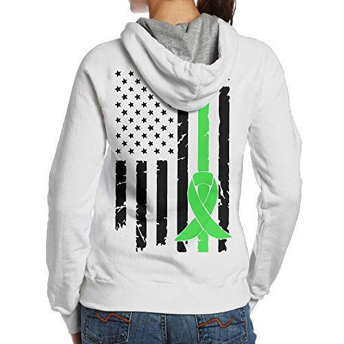 BMWEITIHB Mental Health Cancer Awareness USA Flag-2 Ladies Sweatshirts (Back Print)