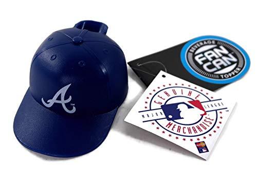 Pangea MLB Mini Batting Helmet Beverage Topper Officially Licensed 12 oz Can Topper (2 Pack, Atlanta - Batting Helmet Atlanta Braves Mini