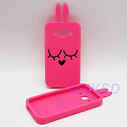 competitive price 59afe 0ac23 Cover ME - Samsung Galaxy J5 Prime HOT PINK BUNNY Soft back cover for Girls  * LIMITED EDITION*