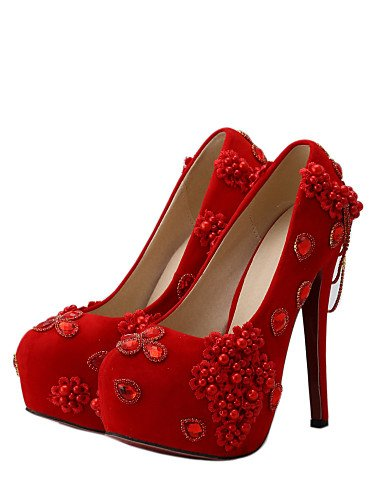 UK boda 6 5in ZQ 8 mujer tacones 39 EU vestito di 8 39 UK EU CN Scarpe amp; US noche US over 39 6 39 tacones Fiesta rojo 5in boda over amp; CN wwEnHUBq