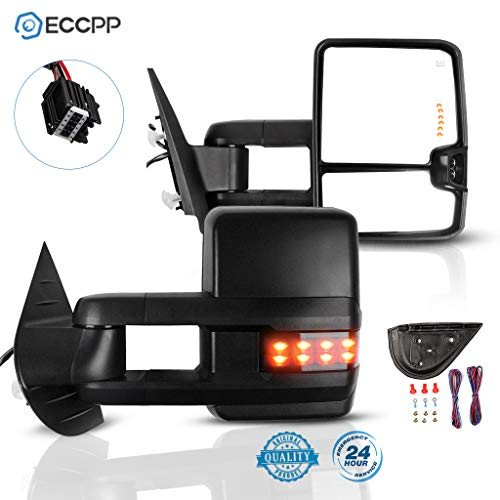 ECCPP Towing Mirrors A Pair of Exterior Automotive Mirrors Replacement fit for Chevy GMC 2008-2013 Silverado/Sierra (07…