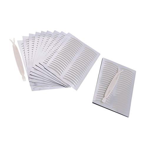 SM SunniMix 400 Pairs Waterproof Eyelid Sticker Adhesive Sweat-proof Double Eye Lid Tape Transparent - Thin