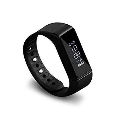 GKKCOO Heart Rate Monitors Fitness Tracker Smart Bracelet Pedometer Waterproof Heart Rate Monitor Activity Wristband with Replacement Band for iOS amp Android Estimated Price £10.59 -