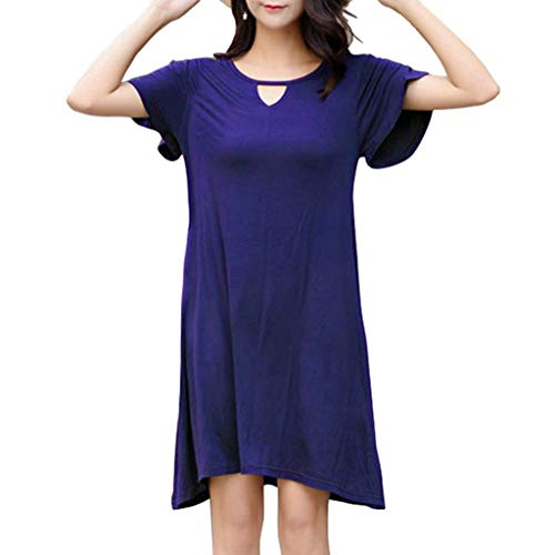 - Gillberry Women's Summer Casual Loose Comfortable Plain T-Shirt Swing Dress