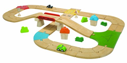 (PlanToys City Road and Rail Roadway Set)