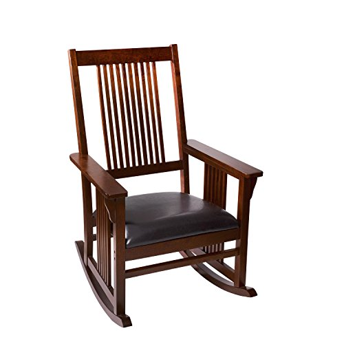 Giftmark Mission Style Rocking Chair with Upholstered Seat, Style A, ()