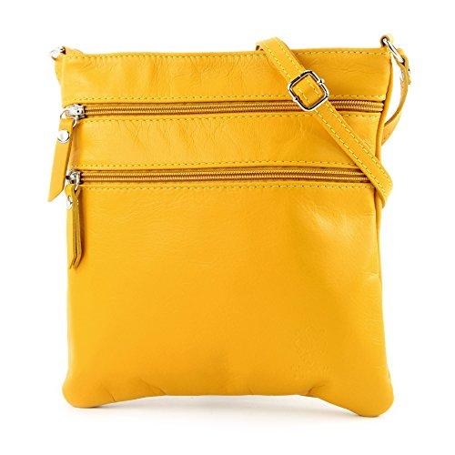 modamoda de - Made in Italy - Bolso cruzados para mujer Klein amarillo