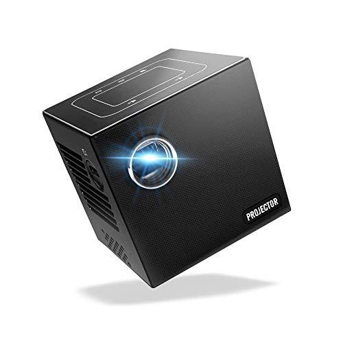 [해외]소형 영사기 【 FunLogy 】 FUN CUBE S12 국내 브랜드 일본어 설명서 안심 지원 HDMI 케이블 삼각대 장착 된 【 1 년 보증 】 자동 키스톤 보정 HDMIUSB 호환 프로젝터 / Small Projector [FunLog