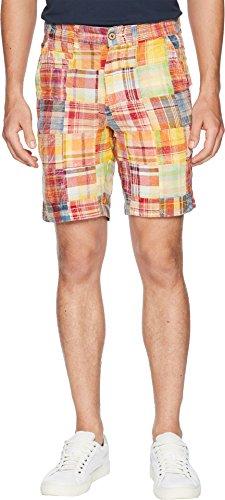 Madras Short Plain Front - Vintage 1946  Men's Acid Washed Patch Madras Shorts Orange 36 9