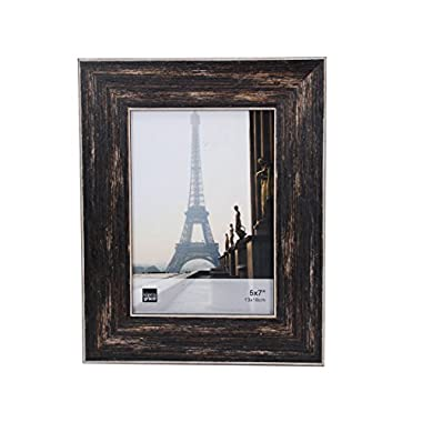 Kiera Grace Emery Picture Frame, 5 by 7 Inch, Weathered Barnwood Finish