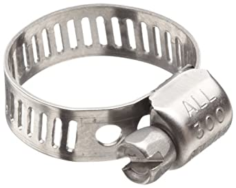 "Precision Brand M6HSP All 300 Series Stainless Worm Gear Hose Clamp, 5/16"" - 7/8"" (Pack of 10)"
