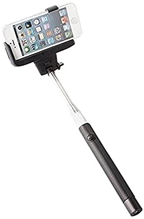 Extendable Mobile Phone Selfie Stick with in-built bluetooth remote button for clicking Selfies - Very Easy to Use Camera Selfie Stick