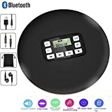 HONGYU Portable Bluetooth CD Player with LED Display/Headphone Jack Anti-Skip Protection Anti-Shock Personal CD Music Disc Player for Kids Adults Students Personal CD Players (Black)