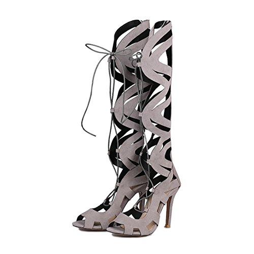 di 36 super gli high donne pesce fighi americane freddo sandali europee bocca stivali sono sexy ed gray le stivali wYUqX7Zq