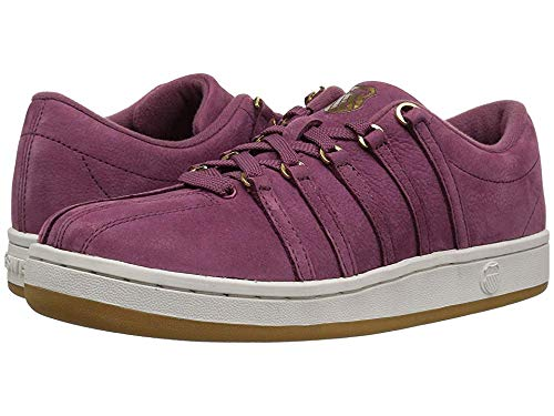 K-swiss Womens Classic Leather Tennis Shoe - K-Swiss Women's Classic 88 P Sneaker, Hawthorn Rose/Vaporous Gray/Gold, 8.5 M US